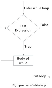 Flowchart of while loop in R programming